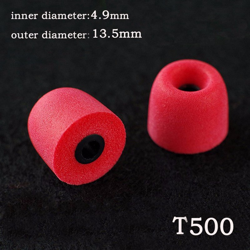 2pcs 1pairs 4 9mm Caliber Ear Pads cap Comply T500 memory ear foam eartips for in