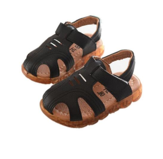 Boys Sandals Kids Led Shoes New Summer Fashion Pu Leather Light Sandals High Quality Baby Children Glowing Shoes