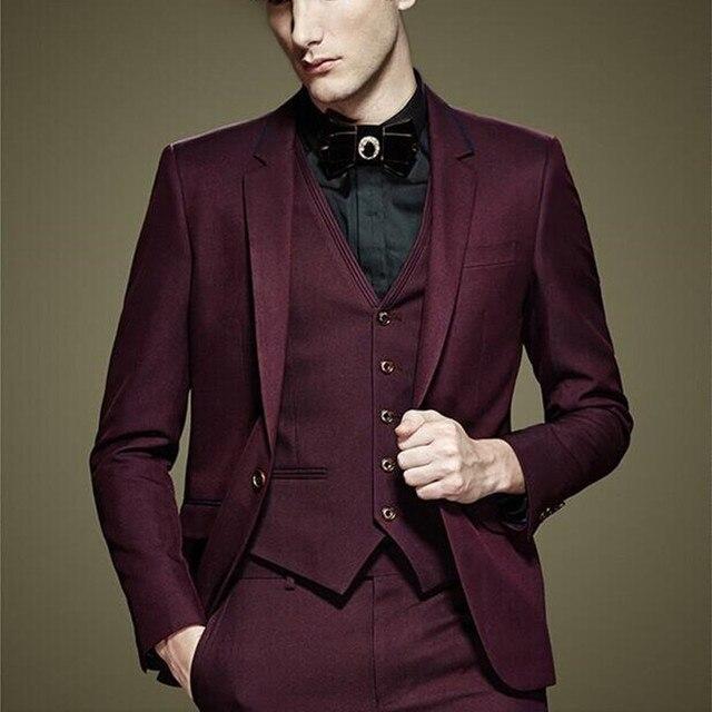 Burgundy Mens Suit - Go Suits