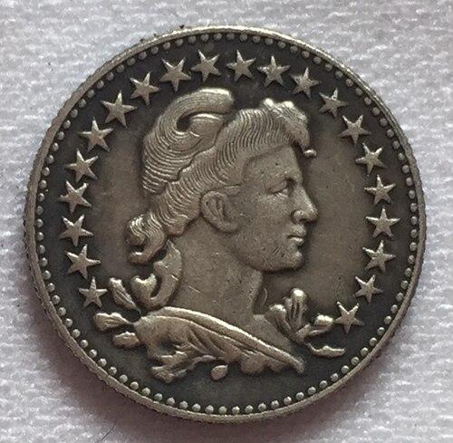 1913 Бразилия 50 Reis Монеты Скопируйте Бесплатная доставка