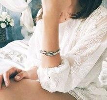 TrinketSea 2017 Jauns ierašanās sievietes aproce rokassprādze Šarms zelta šķēlums aproces šarmu aproces moderns luksusa sieviešu modes rotaslietas