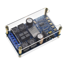 50W*2 Bluetooth Dual Channel Stereo Amplifier Board Digital Home Audio Bluetooth Amplifier DIY Module with Case DC4.7-27V