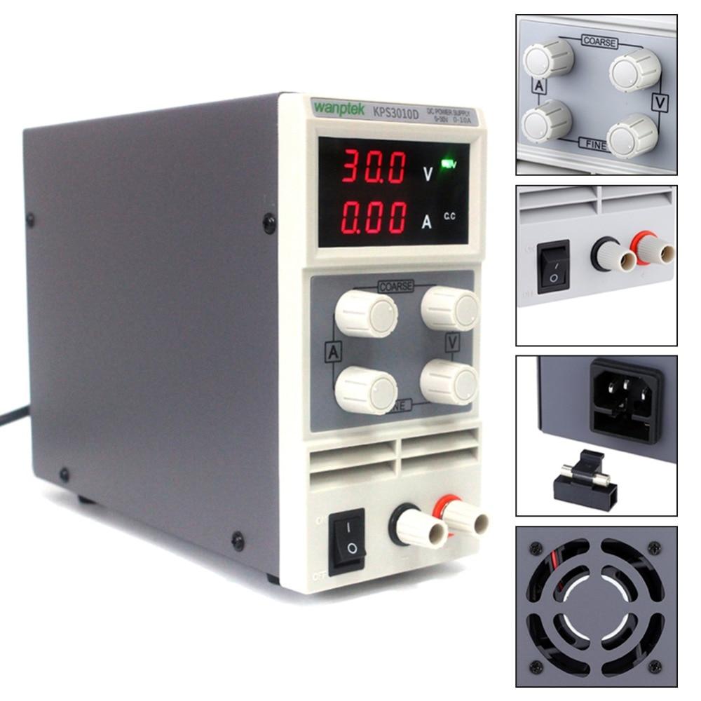 KPS3010D DC di Alimentazione 30 V 10A Display Digitale Regolabile Alimentazione Elettrica di Commutazione Regolatore di Tensione 3 Cifre di Laboratorio di RiparazioneKPS3010D DC di Alimentazione 30 V 10A Display Digitale Regolabile Alimentazione Elettrica di Commutazione Regolatore di Tensione 3 Cifre di Laboratorio di Riparazione