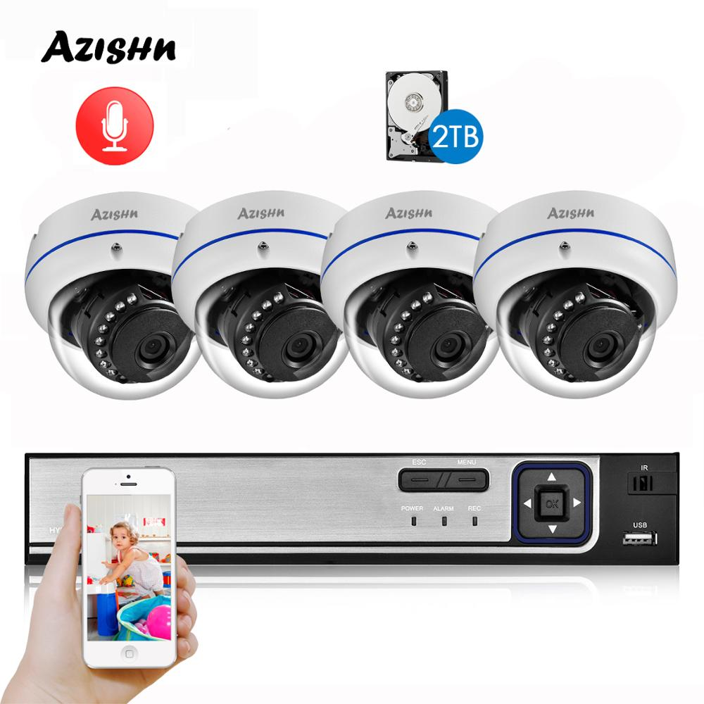 AZISHN H.265 5MP POE CCTV Security System NVR Explosion-proof Audio 5MP 1/2.8