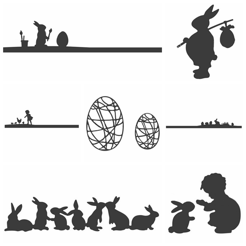 Easter Bunny Metal Cutting Dies Stencil For DIY Scrapbooking Decorative Embossing Suit Paper Card Die Cutting Template Handmade