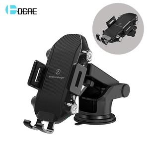 DCAE 10W Fast Qi Wireless Car Charger 10W Auto Clamping Car Mount Air Vent Phone Holder for iPhone XS Max XR X 8 Samsung S10 S9