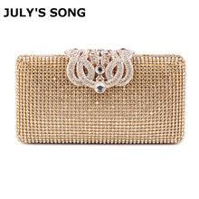 b6966fe7e Bolsas de mulheres Sacos de Noite de Strass Coroa De Metal Cheia De  Diamantes Dia Bolsa Garras Noite Sacos de Prata/ouro/preto