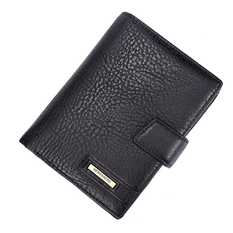 New men's genuine leather passport cover wallets multifunctional pouch card holder