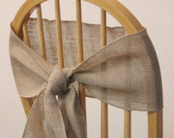 Free Shipping 50 Pcs A Lot 100% Jute Burlap Chair Sash Chair Band Linen  Chair Ribbon Tie For Rustic Party Wedding Decoration In Sashes From Home U0026  Garden On ...