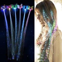1 шт./2 шт./5 шт. светодиодные, мигающие, для волос, косички, светящиеся, люминесцентные шпильки, украшение для волос, для девочек, светодиодный, новинка, игрушки, новогодние, вечерние, рождественские