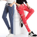 Fall Summer Women Harem Pants Casual Polka Dot Star Printed Elastic Waist Plus Size Ladies Stretch Trousers 3XL