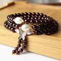 Multilayer Natural AAA Garnet Bracelets For Women Designs Freshwater Pearl 925 Sterling Silver Butterfly Charm Bracelets Jewelry