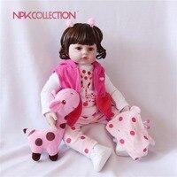 NPK 22 Новое прибытие reborn силиконовые куклы винил adora реалистичные маленьких boneca reborn hot игрушки приятель для детей на день рождения