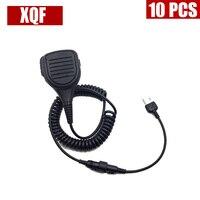 Xqf 10ピースハンドヘルドproスピーカーマイクマイク用ミッドランドラジオトランシーバーGXT1050 GXT5000 GXT1000 GXT1050VP4 LXT380新し