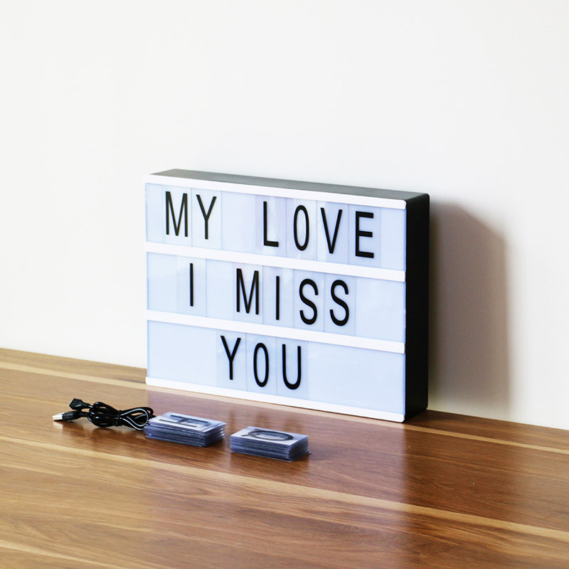 Hot LED Light Boxes Light Up Your Life A4 Size Cinematic Light Box with Letters Home Decor @LS OC2317