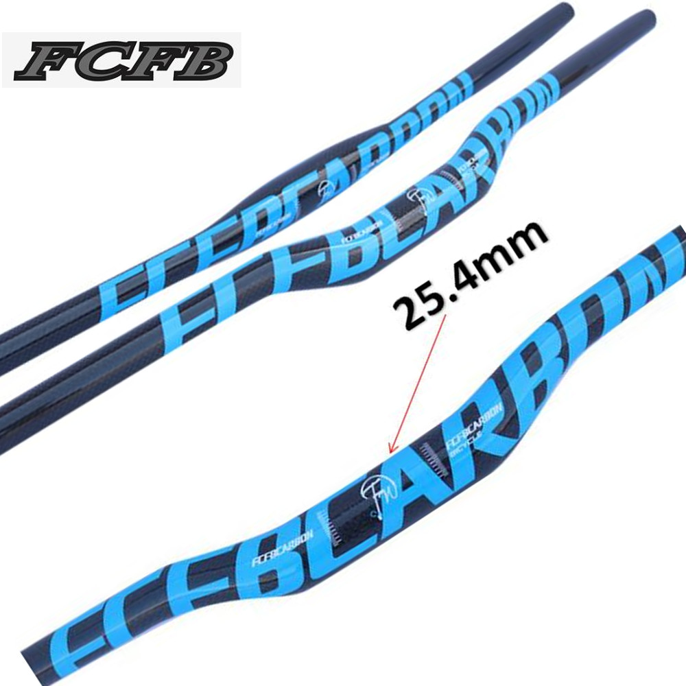 3K carbon Mountain road MTB bike handlebar Bicycle Flat//Riser Bar 7°Stem blue