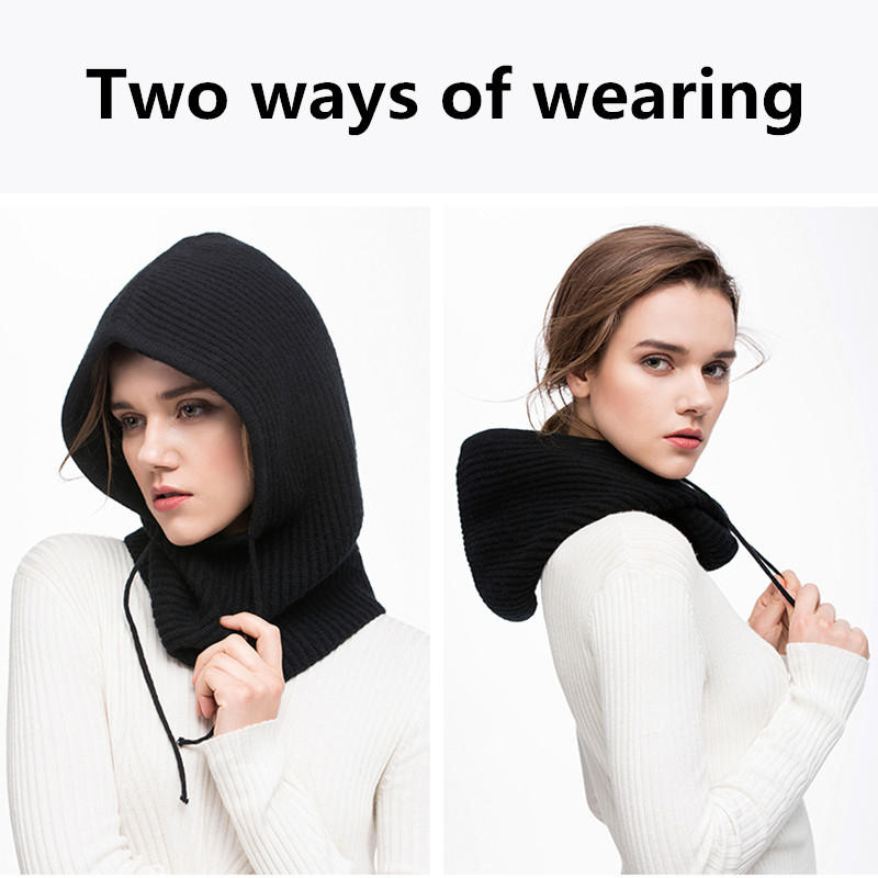 Xthree Winter Wool Knitted Scarf Hat Set Beanie Women Scarf Skullies Beanies Hats For Women Men Caps Gorras Bonnet Mask 3