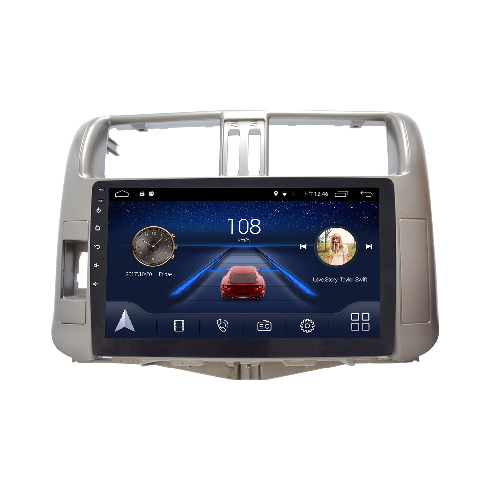 4G Lte Android 9.0 Car multimedia navigation system GPS player For Toyota Highlander 2009 10 11 12 13 years IPS screen Radio