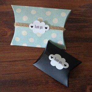 Image 5 - Pegatina de foca blanca en forma de nube, 102 Uds., etiquetas de papel de agradecimiento, bolsa de regalo para caramelos, caja de papel, pegatina para boda, fiesta, Favor, decoración DIY