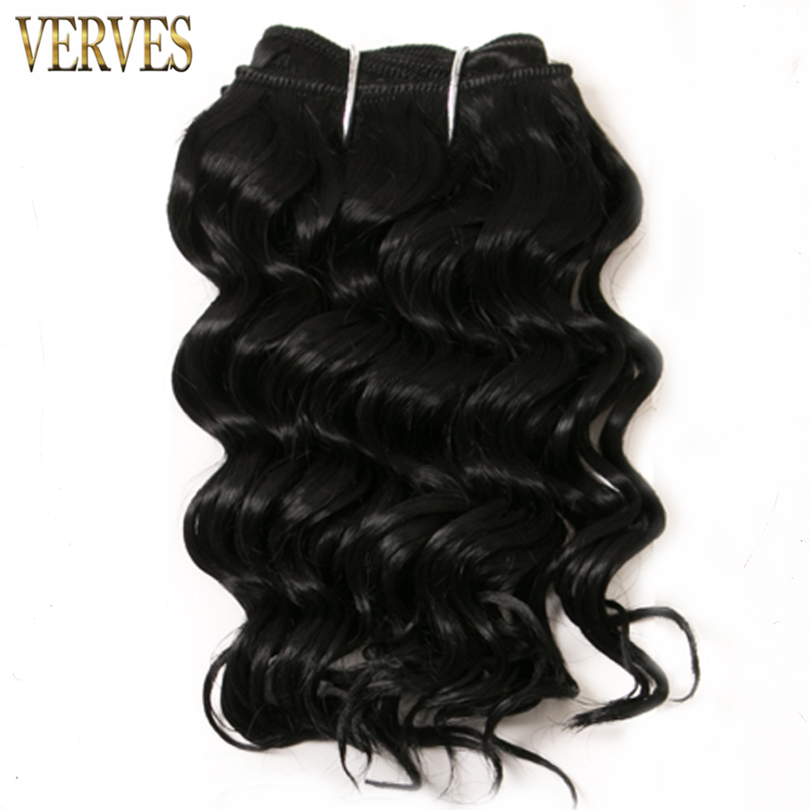 1 set 100g/set deep wave 8 inch bob short style 2 piece/set Synthetic Hair Extensions VERVES Hair Weaving Bundles