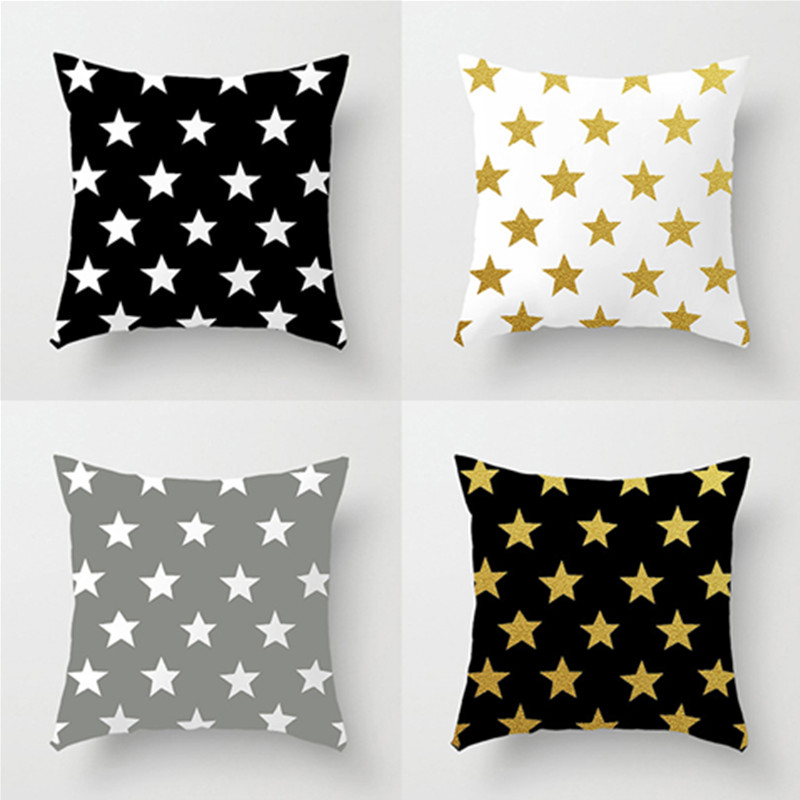 High-quality Stars Cushion Without Core Decorative pillows Home Decor Sofa Chair Throw Pillows Decorate lattice Cushions