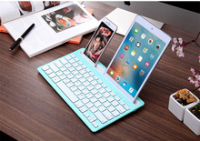 KuWFi Wireless Ultra-Thin Bluetooth Keyboard Mobile Tablet Dual Channel Card slot Ipad