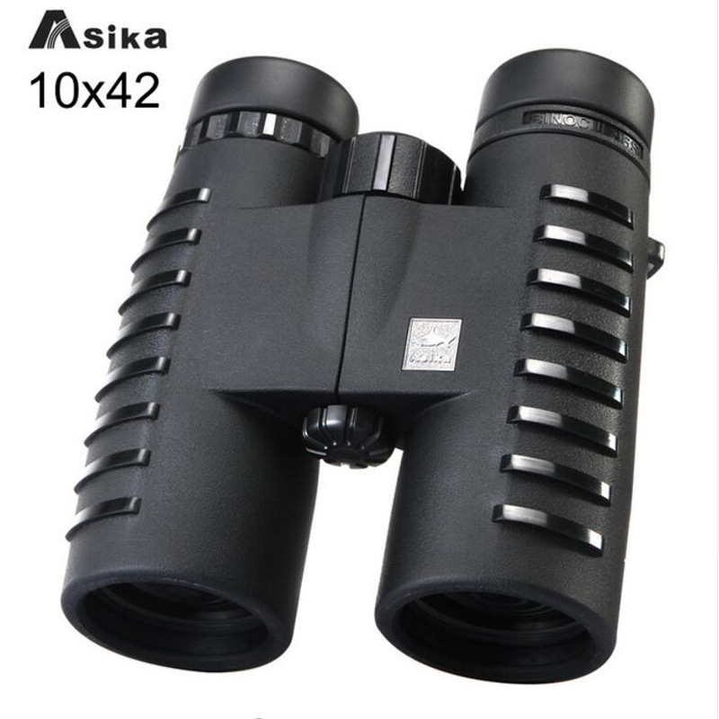 Asika 10x42 HD Camping Hunting Scopes Binoculars With Fully Multi-coated Wide Angle Telescopes Bak4 Prism Optics Binoculares