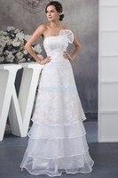 Frete grátis produto novo da chegada 2016 projeto quente uma direção tamanho personalizado/cor vestido de noiva plus size branco Da Dama de honra vestidos