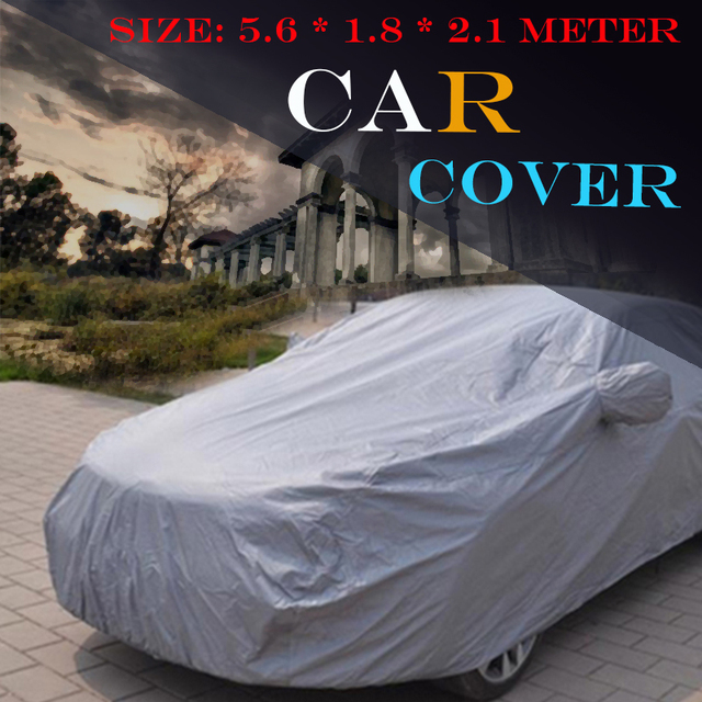 Full Car Cover Truck Outdoor Rain Sun Snow Scratch Resistant Anti UV Cover Dust Proof 5600 x 1800 x 2100 MM