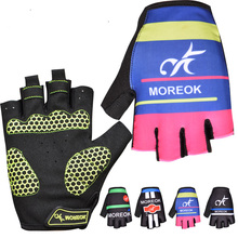 New arrival bicycle accessrories comfortable men half finger gel cycling gloves