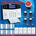 DHL Frete Grátis! Suporte Inglês e Russo Voz Francês, Manual de Tela LCD Sistema de Alarme de Segurança GSM Casa 4 Banda