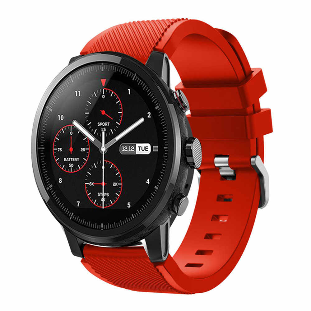 22mm סיליקון ספורט צפו בנד עבור Samsung הילוך S3 חכם שעון רצועת לxiaomi Huami Amazfit סטרטוס 2/ 2 s החלפת רצועת השעון