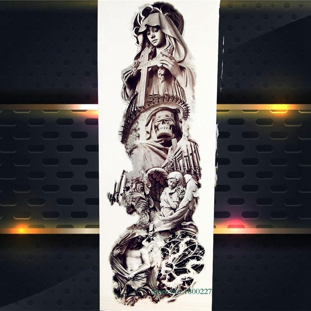 Big Full Arm Flash Temporary Tattoo Sticker 1