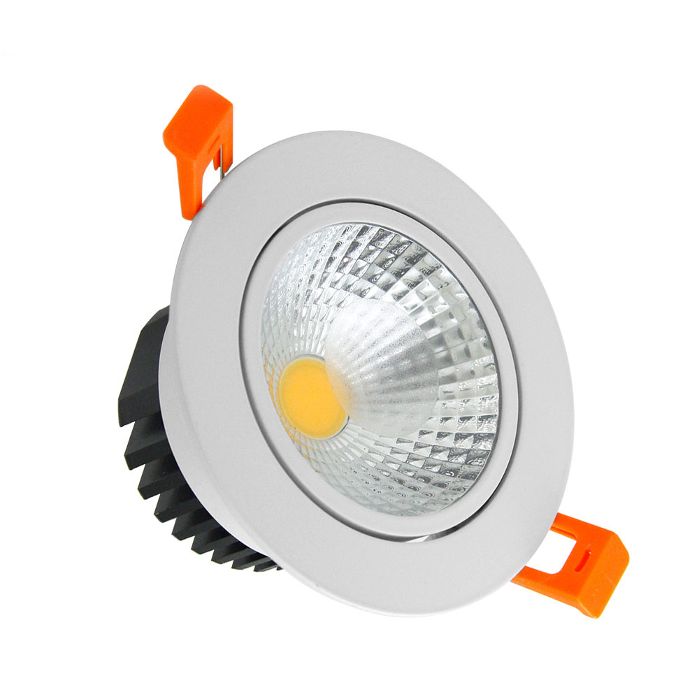 [DBF]LED Ceiling Lamp Dimmable COB LED Downlight 6W 9W 12W 15W LED Spot light Cold White/Natural White/Warm White AC85V-265V free shipping cob 15w dimmable ar111 gu10 g53 warm white natural white cold white ar111 cob led spot lamp for home light