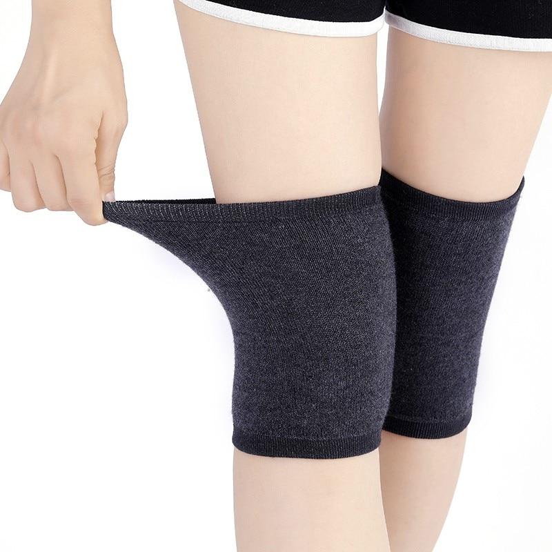 Wool Light Weight Knee Sleeve Solid Winter Coldproof Warm Knees Wool Knitted High Kneecap Knee Protectors Leg Warmers All Season