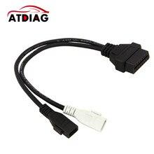 VAG Adapter For AUDI 2X2 OBD1 OBD2 Car Diagnostic Cable 2P+2P Fits Audi 2X2Pin to OBD2 16Pin Female Connector VAG COM VW Skoda