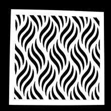 1PC Wave Billow Shaped Reusable Stencil Airbrush Painting Art DIY Home Decor Scrap booking Album Crafts