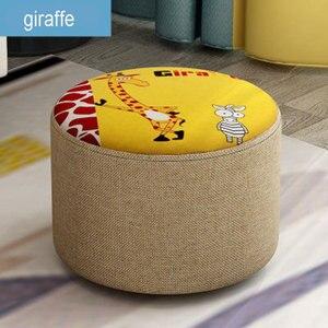 Image 5 - Creative שרפרף שרפרף ספת אופנה בד שרפרף סלון עץ מסגרת שרפרף קטן ספסל בית פשוט ילד מושבים 20cm