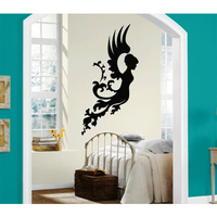 New Wall Stickers Vinyl Decal Angel Wings Women Religion Wall Decor Free shipping