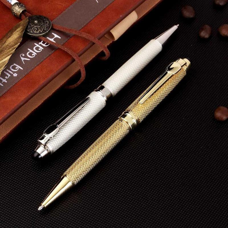 Yeni varış marka Jinhao 163 lüks iş yazma Metal tükenmez kalem ofis yönetici kalem satın 2 kalem göndermek hediye