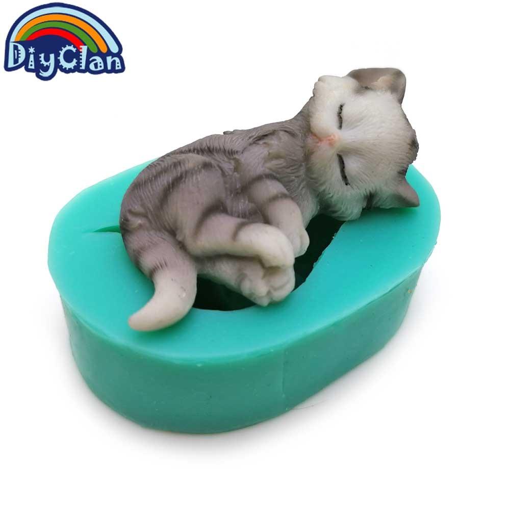 3D gatitos de silicona fondant moldes de pastel encantador gato - Cocina, comedor y bar - foto 6