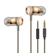 Aibesser 3.3mm de telefone celular fones de ouvido com fio com microfone em fones de ouvido baixo pesado universal handsfree fone de ouvido para Vivo V5 lite x7 X9s plus