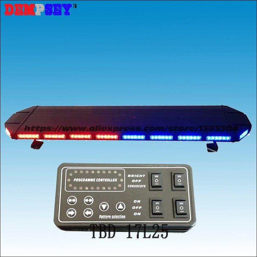 TBD-17L25 LED Lightbar, Red&blue Emergency Warning Light ,waterproof, For Ambulance/fire Truck/police Vehicle ,18 Flash Patterns