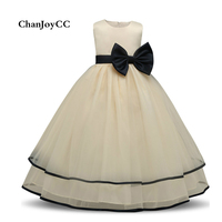 ChanJoyCC High Quality Girl S Princess Dress Girl S Ball Gown Sleeveless With Big Bowknot Cute