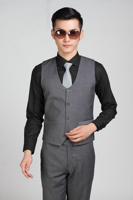 Aliexpress.com : Buy Formal Business Dark Grey Suit Vest For Men ...