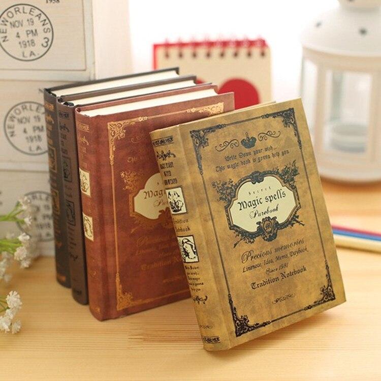Notebooks Vintage Journal Reisenden Notebook 64 Karat Hardcover Tagebuch Magie Shell Tasche Buch Planer Notizblock Notebooks & Schreibblöcke
