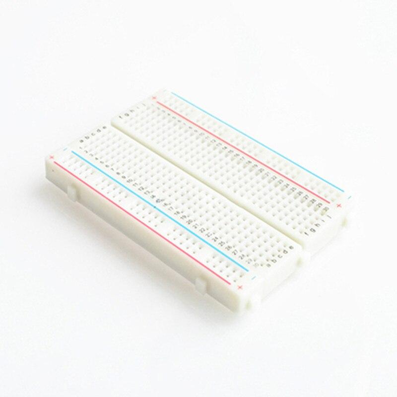 Quality 400 point mini bread board / breadboard 8.5CM x 5.5CM 400 holes for arduino