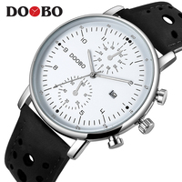 DOOBO Slim Leather Mens Watches Top Brand Luxury Casual Sports Japan Movt Quartz Watch Men Clock