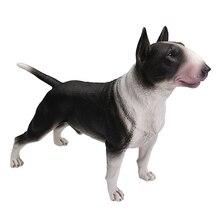 DDWE Bull Terrier Bulldog Pet cane Levriero di Simulazione Modello Animale Decorazione Bullo pitbull Figura del Giocattolo di Azione per il Regalo Dei Bambini