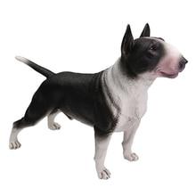 DDWE Bull Terrier Bulldog Pet dog Greyhound Simulation Animal Model Decoration Bully pitbull Action Toy Figure for Children Gift